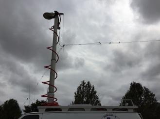 Fan Dipole deployed