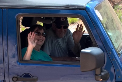 Dan and Phyllis having a blast!