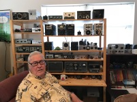 Jim and World War II era gear - Heath QRP gear, homebrew gear, a few telegraph keys ...