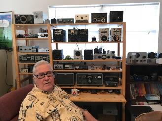 Jim and World War II era gear - Heath QRP gear, homebrew gear, a few telegraph keys ...
