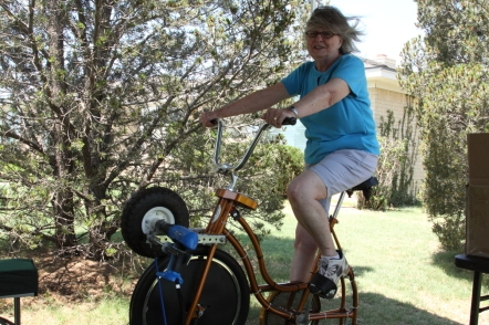 Kim and the bicycle generator