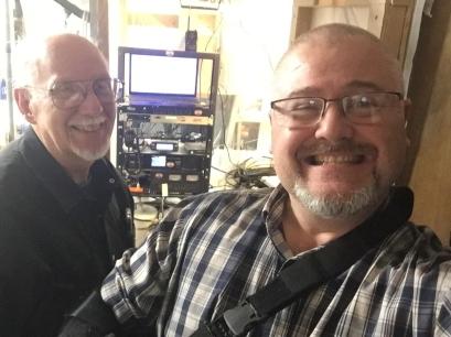 Left, Dr. Robert Tillison W7RGZ, Right, Stephen Hutchens WM7X
